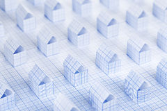 Paper houses Stock Image