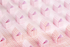 Paper houses Stock Photos