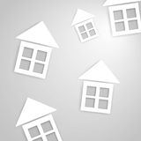 Paper houses, realistic illustration Royalty Free Stock Photography