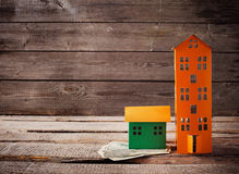A paper houses stands Stock Photos