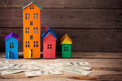 A paper houses stands Stock Photography