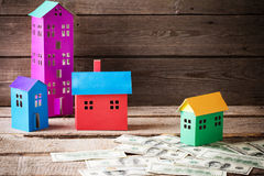 A paper houses stands Royalty Free Stock Photos
