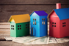 A paper houses stands Royalty Free Stock Photo