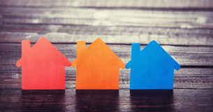 Paper houses Stock Photography
