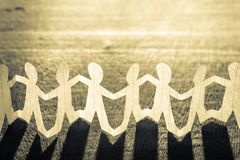 Paper Human Chain stock photography