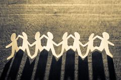 Paper Human Chain royalty free stock photos