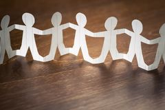 Paper Human Chain stock images