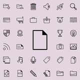 Paper icon. Detailed set of minimalistic icons. Premium graphic design. One of the collection icons for websites, web design, mobi. Le app on colored background Stock Photos