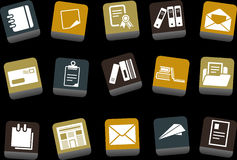Paper Icon Set royalty free illustration