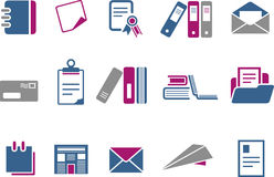 Paper Icon Set Stock Photo