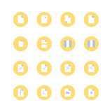 Paper icon set. Stock Photography