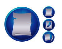 Paper icon set Stock Images