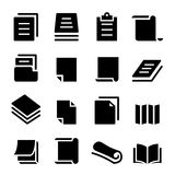 Paper icon set Stock Photo