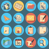 Paper icon set Royalty Free Stock Image