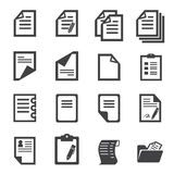 Paper icon Stock Photography