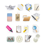 Paper icons Stock Images