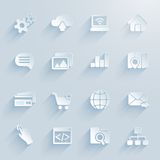 Paper icons for infographics Stock Photo