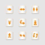 Paper icons set, arrows Royalty Free Stock Photos