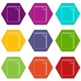 Paper icons set 9 vector. Paper icons 9 set coloful isolated on white for web Stock Photography