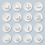 Paper icons Royalty Free Stock Photos