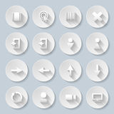 Paper icons Stock Photography