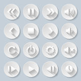Paper icons Stock Image