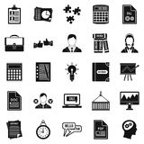 Paper icons set, simple style. Paper icons set. Simple set of 25 paper vector icons for web isolated on white background Royalty Free Stock Image