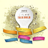 Paper idea bulb and ribbons infographics Royalty Free Stock Images