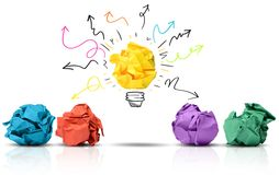 Paper idea Stock Photos