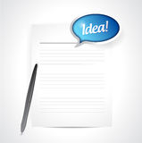 Paper with an idea message illustration Royalty Free Stock Photos