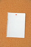 Paper In Cork Board Stock Photography