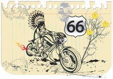 Paper indian rider 1 Stock Photos