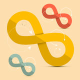 Paper Infinity Symbols Set Royalty Free Stock Image