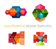 Paper infographic banners and stickers Royalty Free Stock Image