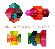 Paper infographic banners and stickers. For banners, business backgrounds, presentations Stock Photography