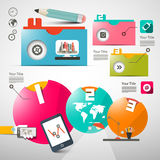 Paper Infographics Layout - Web Design Stock Photo