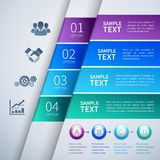 Paper infographics template Royalty Free Stock Photo