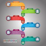 Paper infographics template Royalty Free Stock Photography