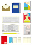 Paper Itens stock image