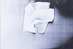 Paper jam in photocopier Stock Photo