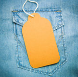 Paper jeans label Stock Photography