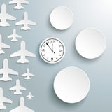 Paper Jet Cover 3 Circles Watch Stock Photo