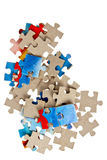 Paper jigsaw puzle isolated Royalty Free Stock Image