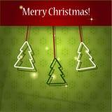 Paper julgran för vektor Royaltyfria Bilder