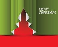 Paper jultree för vektor Royaltyfria Bilder
