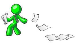 paper kasta för person Royaltyfri Foto