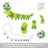 Paper kid game. Easy application for kids with Centipede. Royalty Free Stock Image
