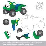 Paper kid game. Easy application for kids with Quad bike. Stock Images