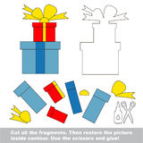 Paper kid game. Easy application for kids with Surprise Stock Photo