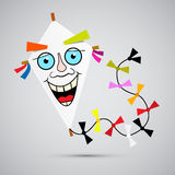 Paper Kite Illustration Royalty Free Stock Photography